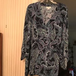Jaclyn Smith 3x tunic top Like New!